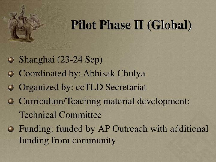 Pilot Phase II (Global)
