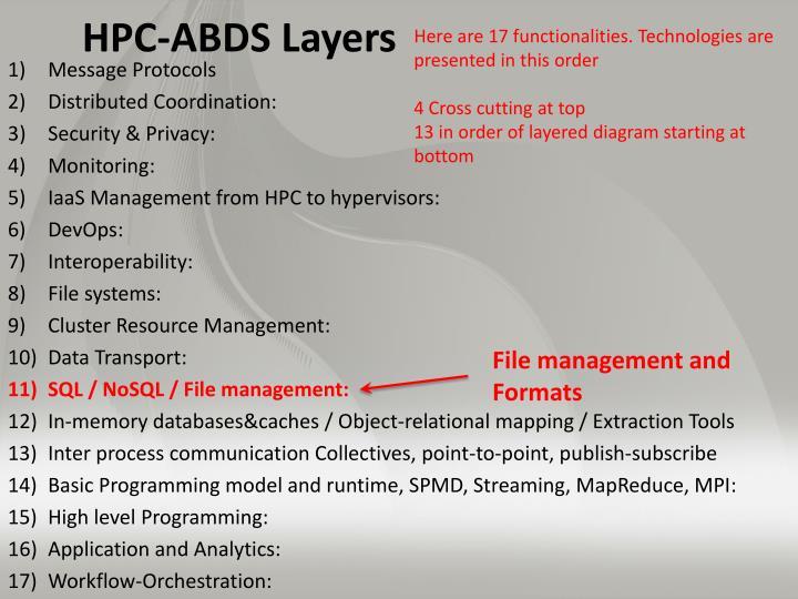 HPC-ABDS Layers
