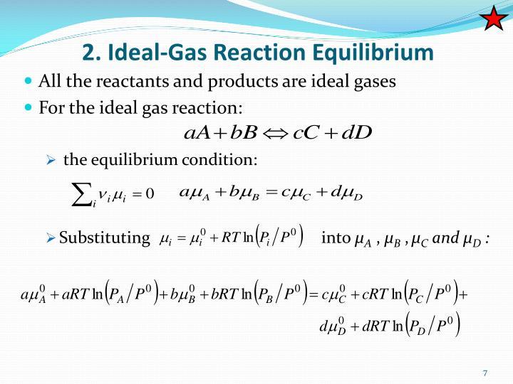 2. Ideal-Gas Reaction Equilibrium