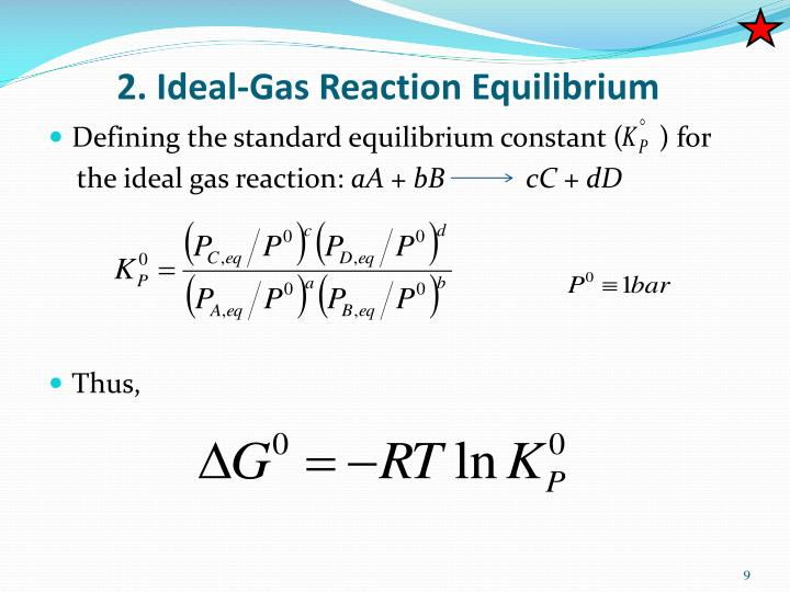 2. Ideal-Gas Reaction Equilibrium