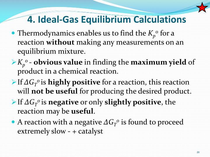 4. Ideal-Gas Equilibrium Calculations