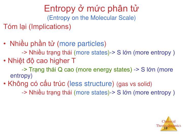 Entropy ở mức phân tử