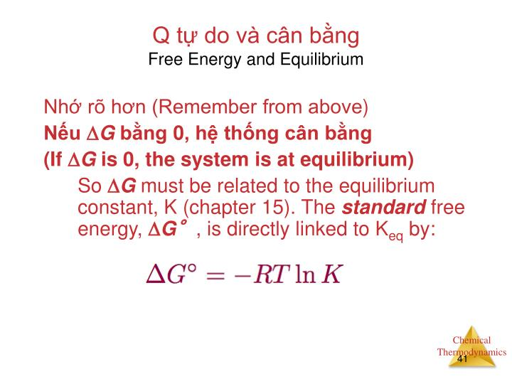 Q tự do và cân bằng