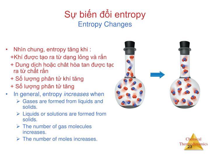 Sự biến đổi entropy