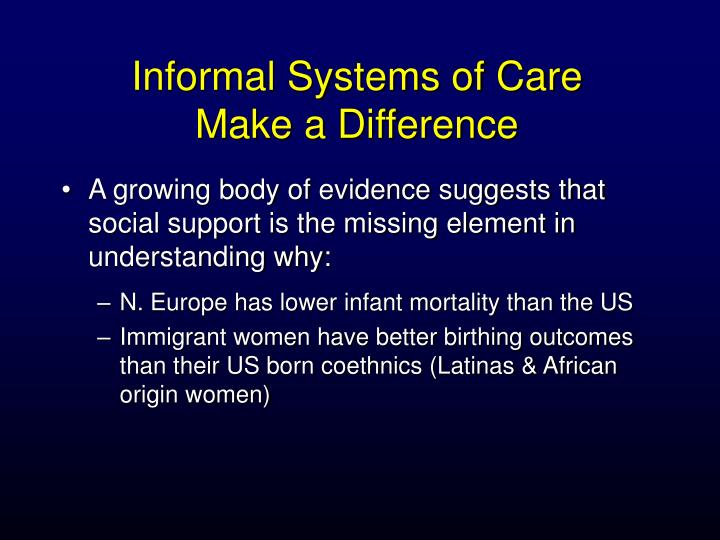 Informal Systems of Care