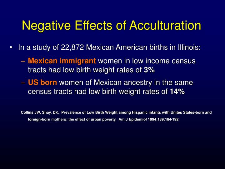 Negative Effects of Acculturation