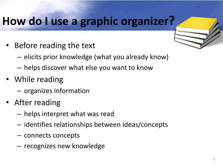 How do I use a graphic organizer