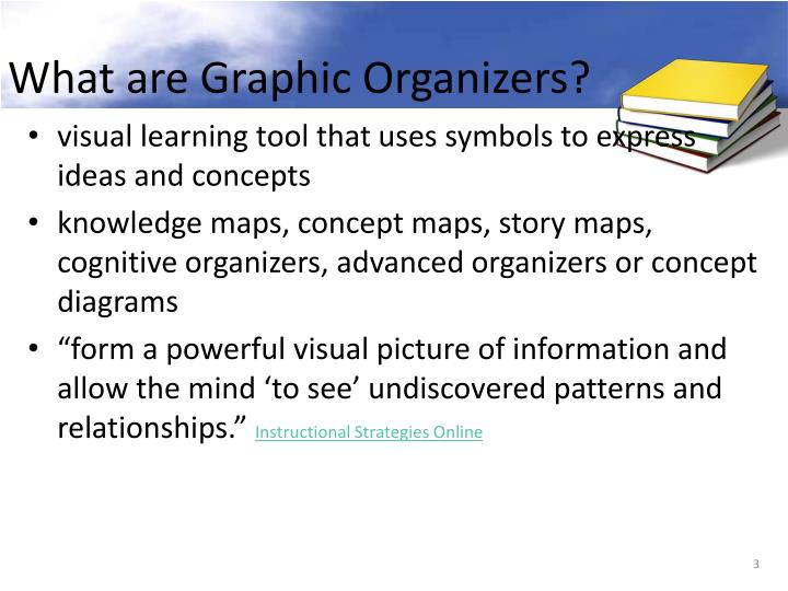 What are graphic organizers