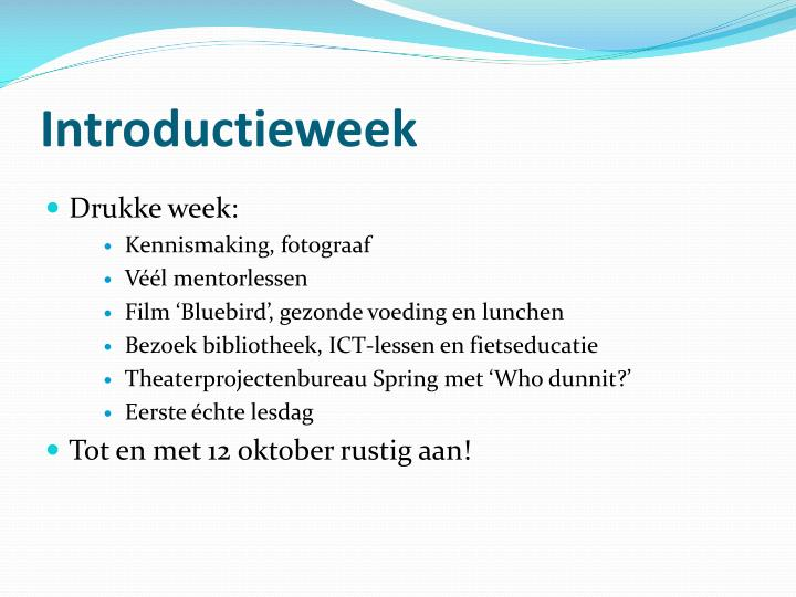 Introductieweek