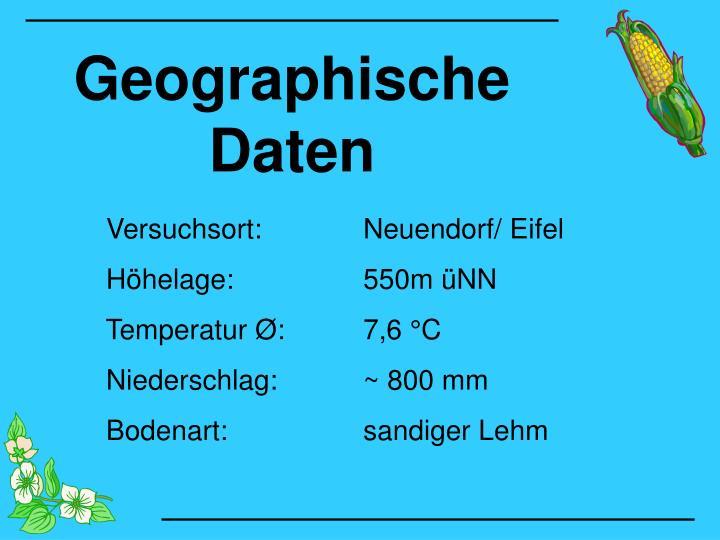 Geographische Daten