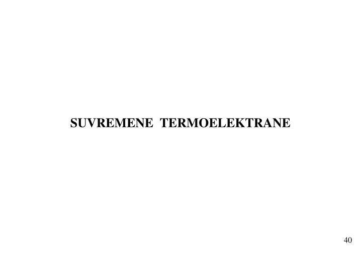 SUVREMENE  TERMOELEKTRANE