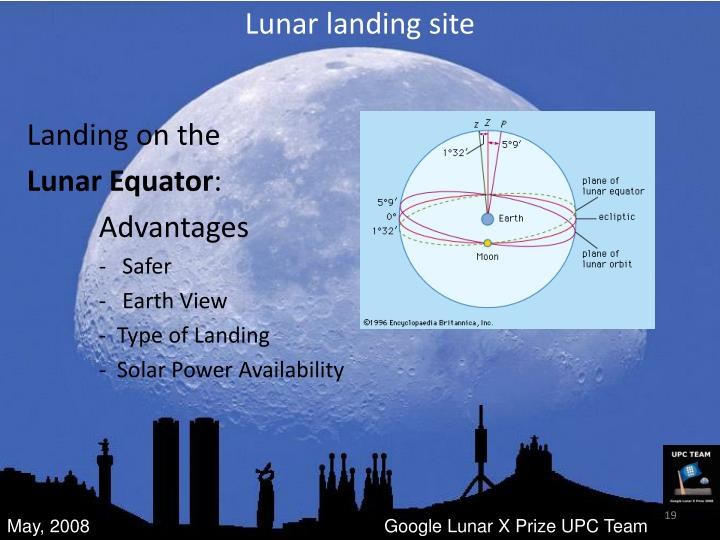 Lunar landing site