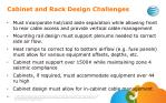 cabinet and rack d esign challenges