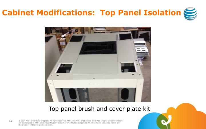 Cabinet Modifications:  Top Panel Isolation