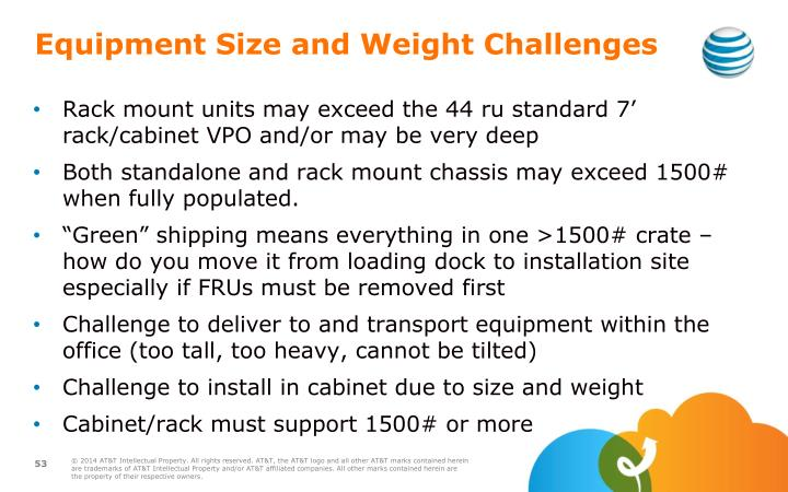 Equipment Size