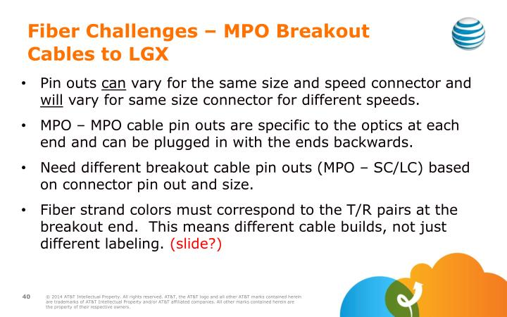Fiber Challenges – MPO Breakout Cables to LGX