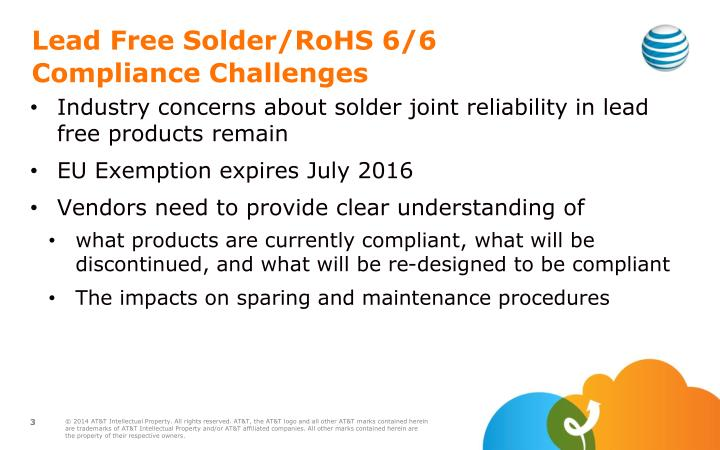 Lead free s older rohs 6 6 c ompliance challenges
