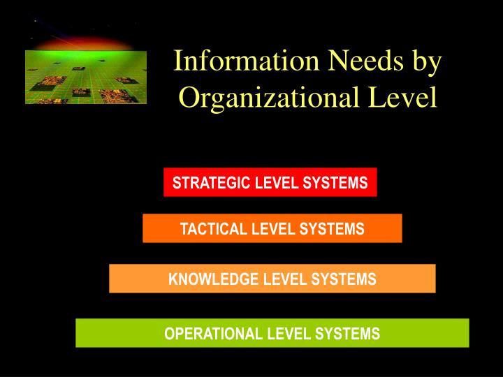 Information Needs by Organizational Level