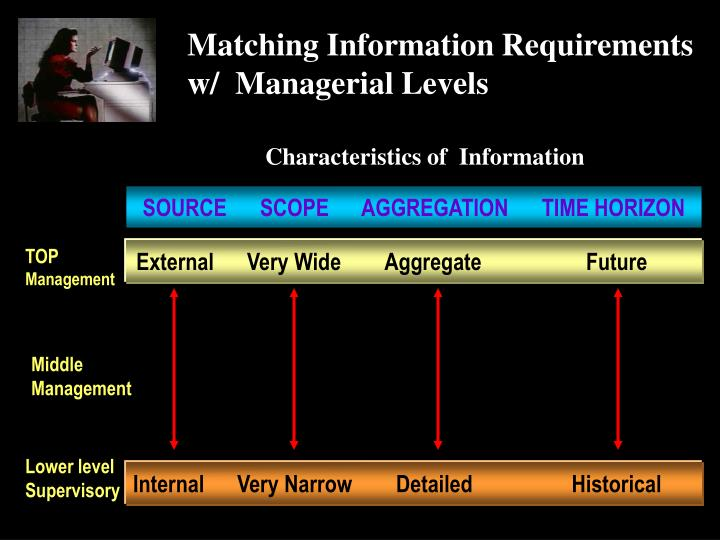 Matching Information Requirements w/  Managerial Levels