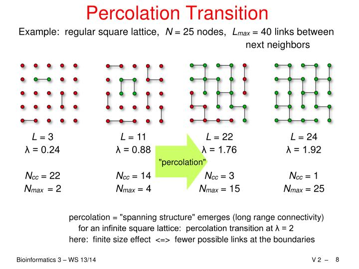 Percolation Transition