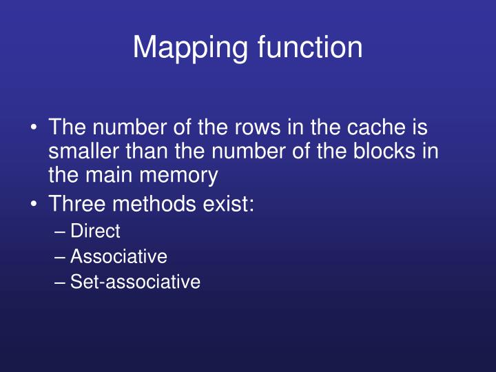 Mapping function