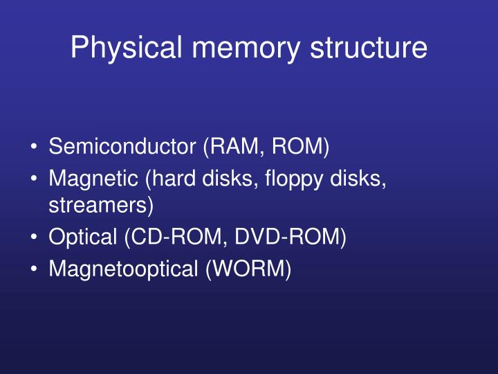 Physical memory structure