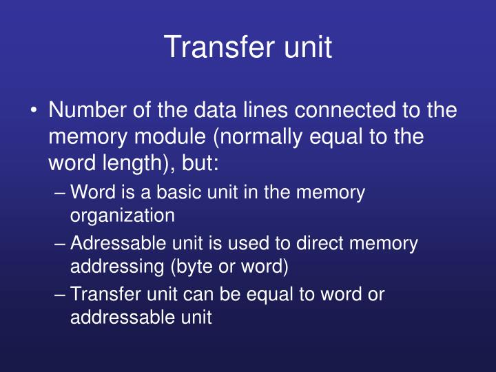 Transfer unit