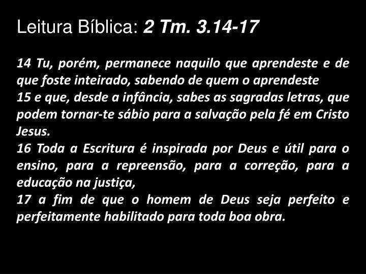 Leitura Bíblica: