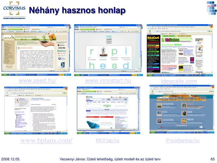 Néhány hasznos honlap