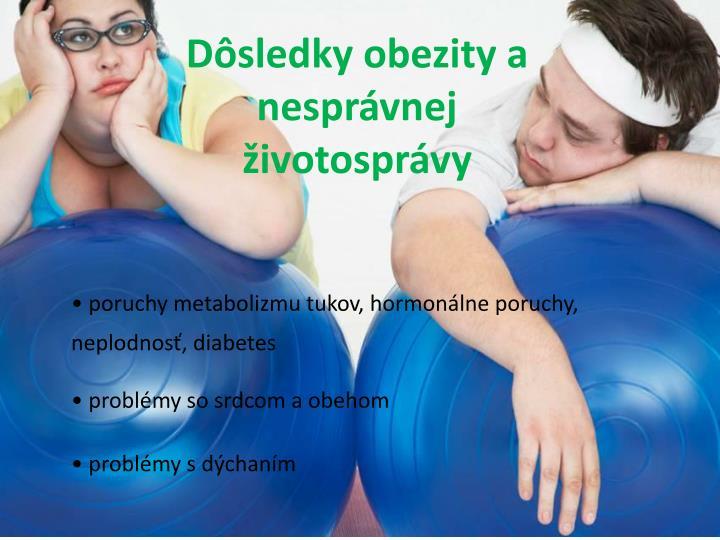 Dôsledky obezity a nesprávnej životosprávy