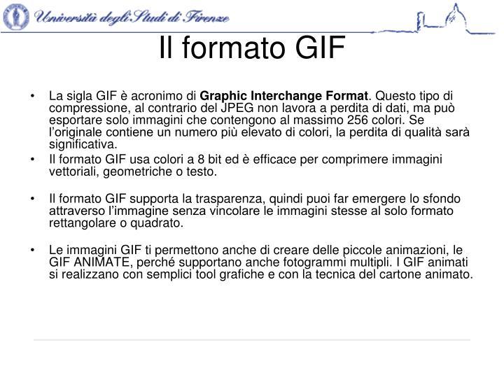 Il formato GIF