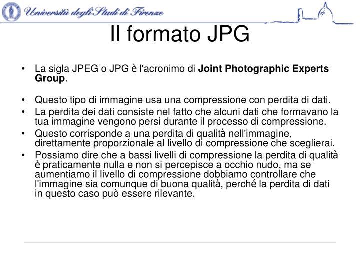 Il formato JPG