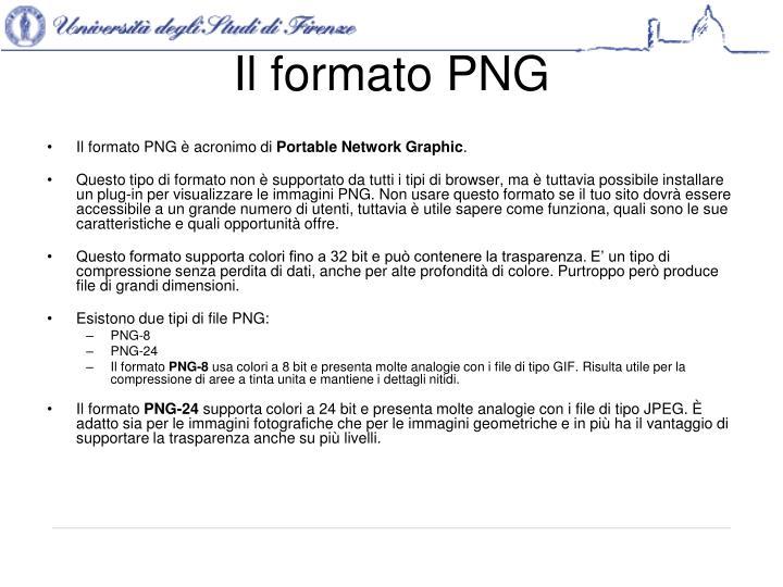 Il formato PNG