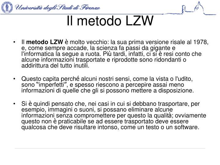 Il metodo LZW