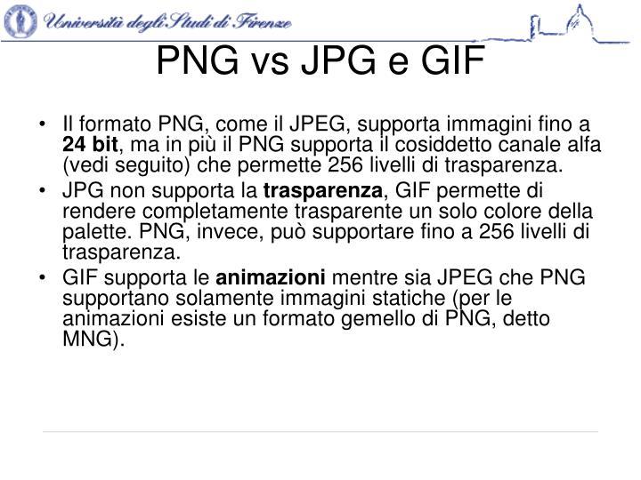 PNG vs JPG e GIF