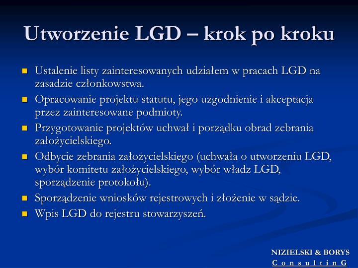 Utworzenie LGD – krok po kroku