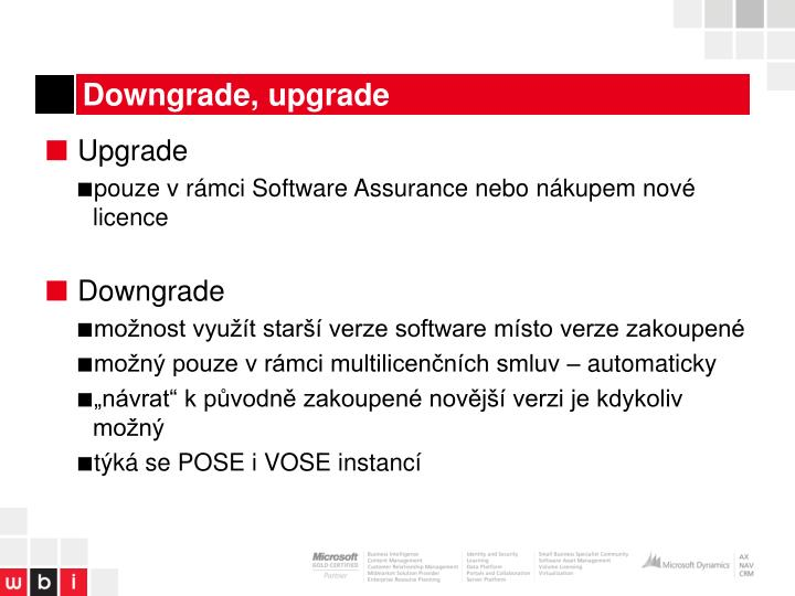 Downgrade