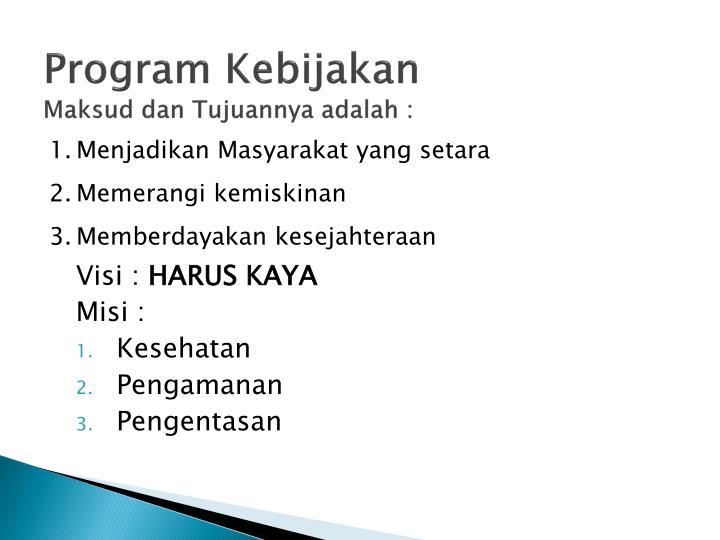 Program Kebijakan