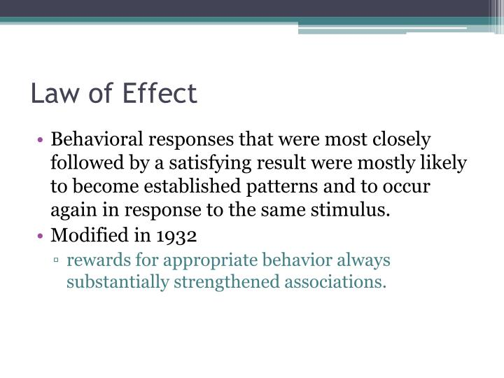 Law of Effect