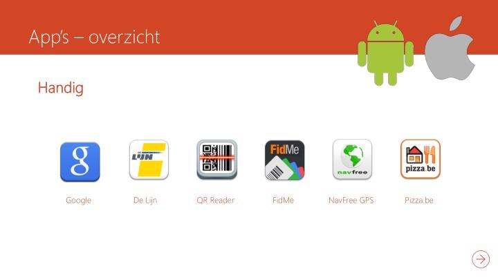 App's – overzicht