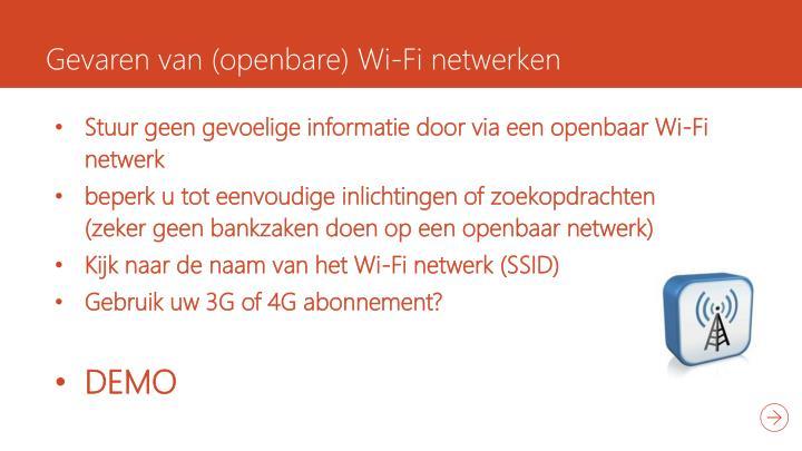Gevaren van (openbare) Wi-Fi netwerken