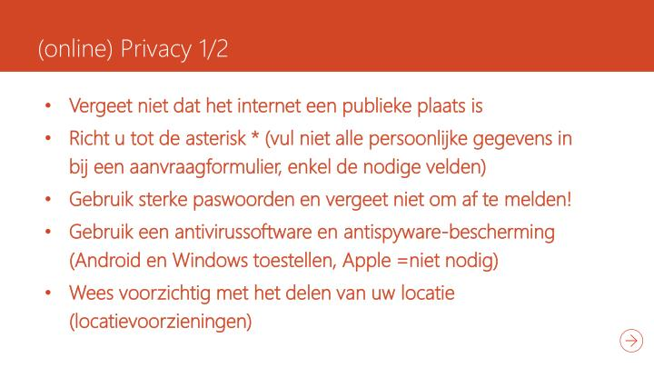 (online) Privacy 1/2