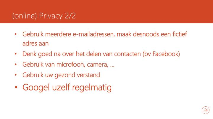 (online) Privacy 2/2