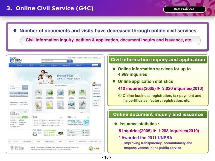 3.  Online Civil Service (G4C)