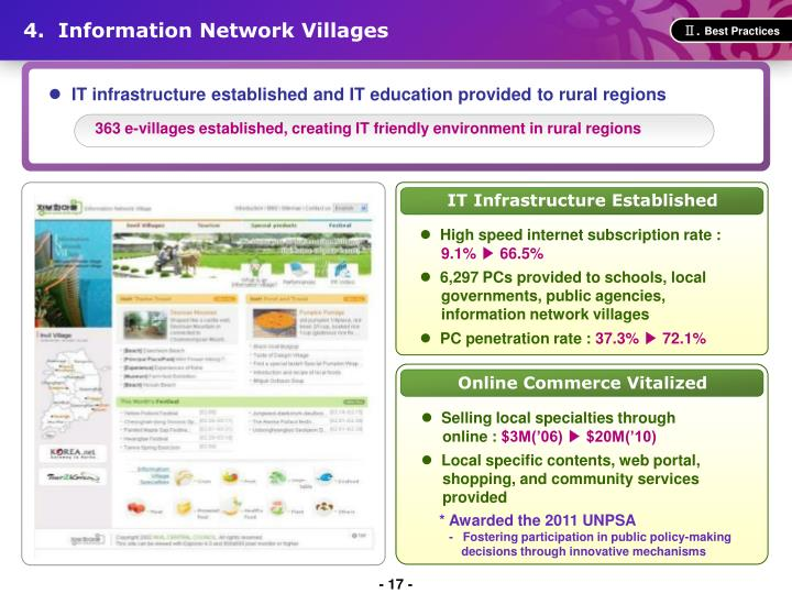 4.  Information Network Villages