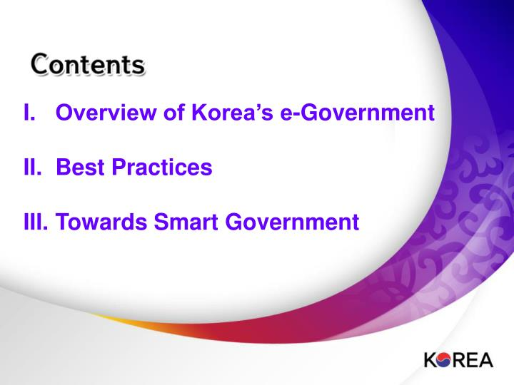 Overview of Korea's e-Government