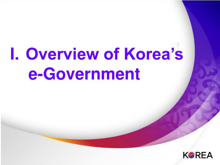 Overview of Korea's