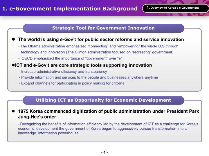 Overview of Korea's e-Government