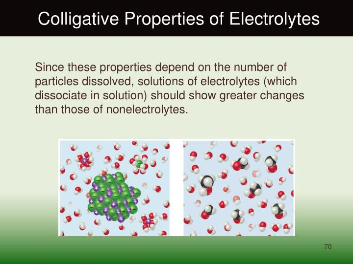 Colligative Properties of Electrolytes