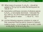 example colligative properties